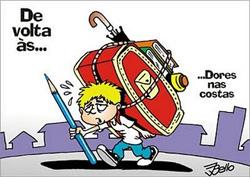 Cuidado com o peso da mochila na volta às aulas