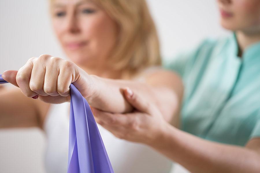 Fisioterapia com Teraband