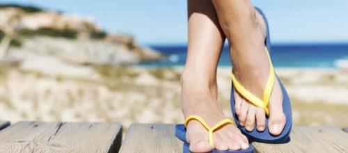 Possíveis problemas com uso de chinelos de praia